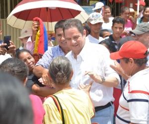Germán Vargas Lleras a su llegada al municipio de Fundación.