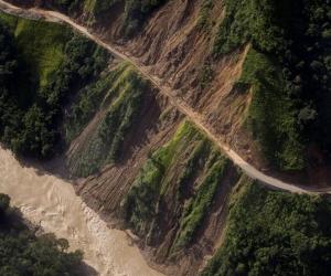 Imagen del río Cauca cerca a la presa de Hidroituango.