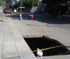 Esta vez la emergencia se registró en la calle principal a la altura de la manzana C casa 13.