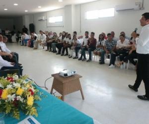 El rector Pablo Vera socializó el programa 'Talento Ciénaga'.