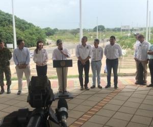 Juan Manuel Santos, durante la inauguración de la doble calzada Ciénaga-Santa Marta.