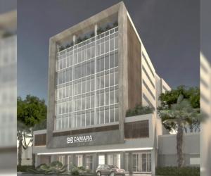 Fachada de la nueva sede de la Cámara de Comercio de Santa Marta.