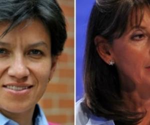 Claudia López y Marta Lucía Ramírez.