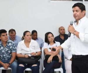 Pablo Vera, rector de la Universidad del Magdalena, durante la socialización del proyecto 'Talento Ciénaga'