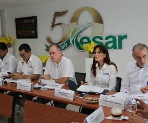 Aspecto de la reunión del Ocad desarrollada en la ciudad de Valledupar.