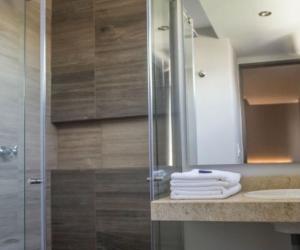 así lucen los baños del hotel.