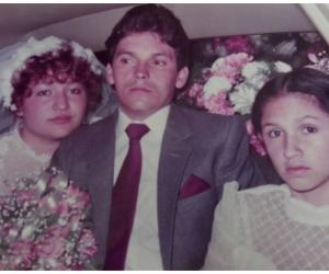 Libardo Durán, el día de su matrimonio.