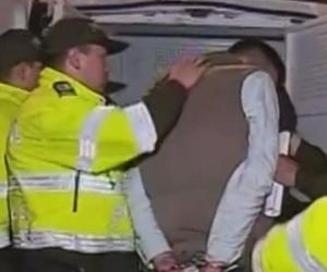 Captura de uno de los delincuentes.