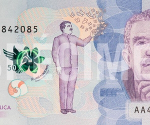 Billete de 50 mil pesos.
