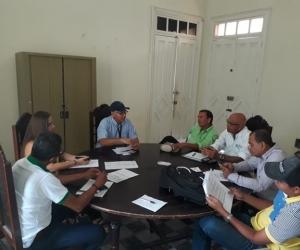 Aspecto de la reunión del Ica en el municipio de Ciénaga.