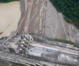 Vista aérea de Hidroituango.
