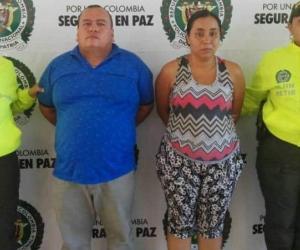 Los detenidos, Edilberto Rojas y Ángela Johana Guerra.