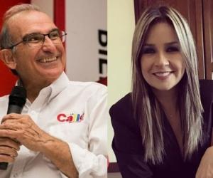 Humberto de la Calle y Vicky Dávila.