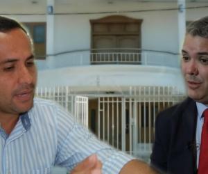 Concejal Mozo y el candidato presidencial Iván Duque.