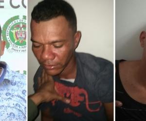 Eric David Mercado Guerrero, Wilfran Fandiño Betermin y Víctor Erwue Montiel Solar.