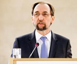 Alto comisionado de la ONU para los Derechos Humanos, Zeid Ra'ad al Hussein.