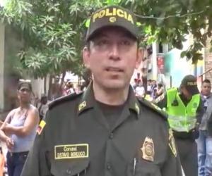 El coronel Gustavo Berdugo, comandante de la Policía Metropolitana de Santa Marta.
