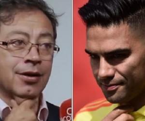 Gustavo Petro y Falcao.