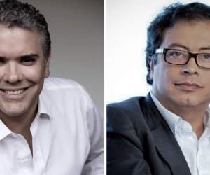 Iván Duque y Gustavo Petro, candidatos presidenciales.
