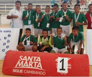 IED El Pando se colgó el oro en futsal juvenil.