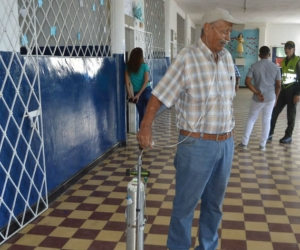 Don Ramón Holguín,de 73 años, salió a votar.