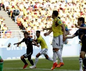 Colombia perdió en su debut mundialista.