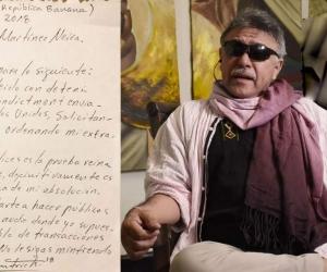 Carta enviada al fiscal por 'Jesus Santrich'.