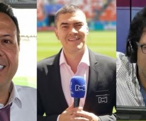 Comentaristas deportivos.