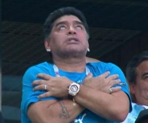 Maradona, durante el mundial.