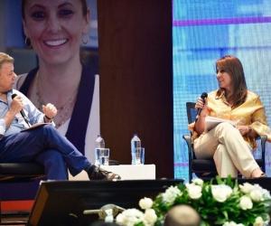 Presidente hizo el balance del sector laboral en un conversatorio con la Ministra de Trabajo, Griselda Restrepo.