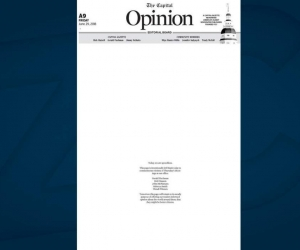 Página de opinión del Capital Gazette.
