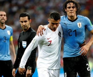 Cristiano Ronaldo y Edison Cavani.