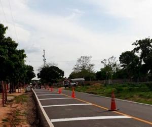 Tramo de la nueva vía Piñuela-Pivijay.