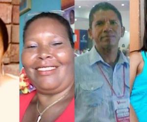 Margarita Estupiñán, Felicinda Santamaría, Luis Barrios Machado y Ana María Cortés.