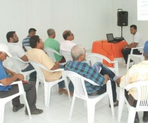 Socialización de acciones que se llevarán a cabo en favor del sector pesquero de Santa Marta.