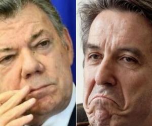 Juan Manuel Santos y Roberto Prieto.