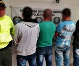A los cuatro capturados les dictaron medida de aseguramiento.