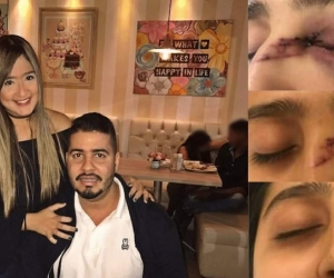 Daniela Ahumada Comas y su esposo Mateo Cabrera.