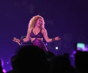 Shakira, durante su presentación en los Juegos Centroamericanos.