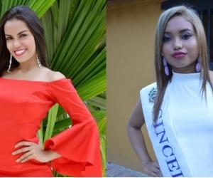 La imagen de la izquierda corresponde a la de la candidata que promocionaron en representación de Sincelejo, mientras que la derecha es la imagen de la candidata que llegó. No parecen ser las mismas, aunque se llaman igual.