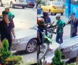 Presunto ladrón quedó grabado en cámaras de seguridad.