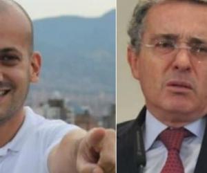 Santiago Jaramillo y Álvaro Uribe Vélez.