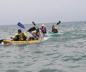 El Kayak también hizo parte de las competencias.