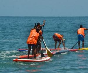 La playa y la bahía del sector de El Rodadero fueron el escenario de la 1ra Válida del Circuito Nacional de Surf, en el marco de la 58 versión de la Fiesta del Mar.