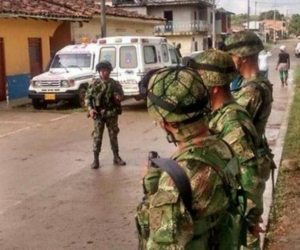 El Ejército en el municipio de El Tarra.