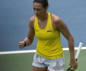 Mariana Duque, tenista colombiana.