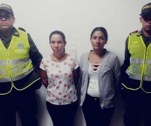 Nubis Belis Cantillo Ternera, de 50 años y Sindy Paola Melo Cantillo, de 27, capturadas.