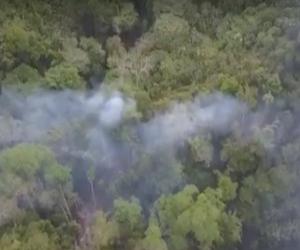 Las llamas que ya completan 3 días al parecer se generaron por una quema controlada por parte de los dueños de las parcelas en el sector de Marquetalia.