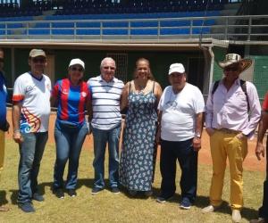 Inspección técnica al estadio de Béisbol por parte de la Federación Colombiana de ese deporte.