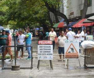 Protesta de comerciantes de San Andresito.